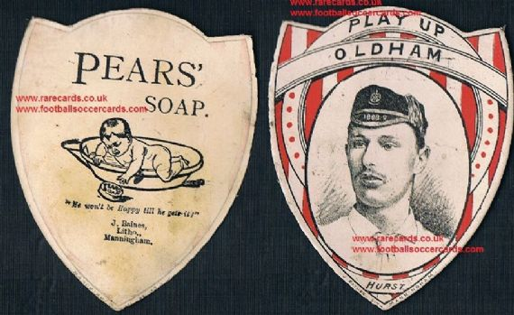 1895 Pears soap card Jack Hurst Oldham top try scorer rugby league 1st season
